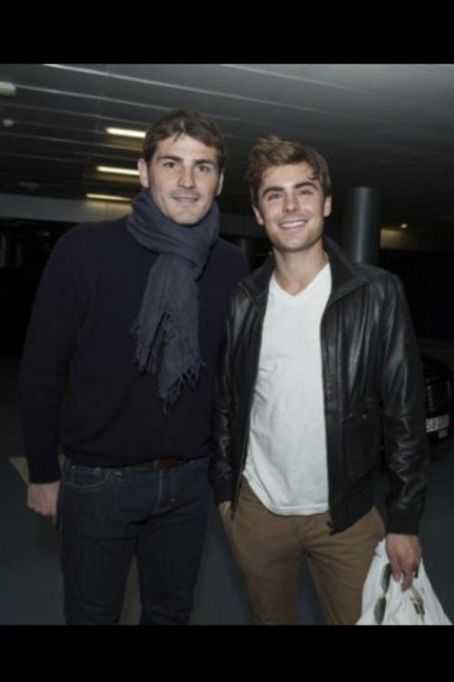 Is that Spain's Iker Casillas with Zac Efron ??! ha! #Euro2012 #TSN