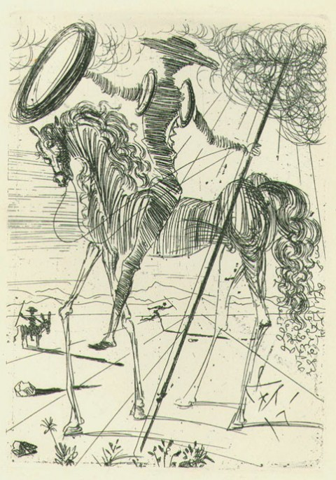 teuil:  Don Quixote by Salvador Dalí (via Salvador Dalí Sketches Five Spanish Immortals: Cervantes, Don Quixote, El Cid, El Greco & Velázquez | Open Culture)