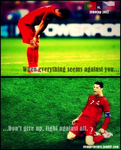 siemprepedro:  This is your moment, Cristiano Ronaldo. Go ahead and fight!  4º of EURO2012: Portugal vs República Checa.