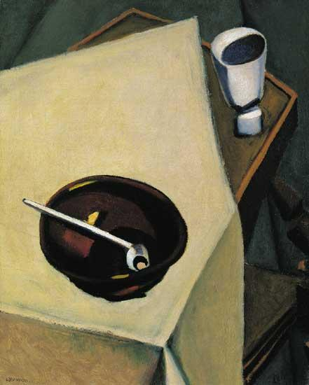 Tihanyi Lajos (1885-1938): Still-life with Pipe 1923, Oil on canvas, Private collection Compare with the André Kertész photo from 1926