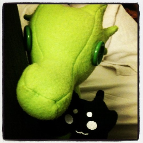 Bedtime for all dragons, mutant cats, and weary travelers. (Taken with Instagram at Fairfield Inn)