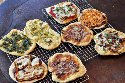 Flatbread Pizzas by tofu666 on Flickr.Yes!