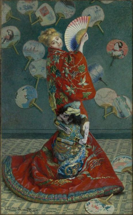 La Japonaise - Claude Monet, 1876 via