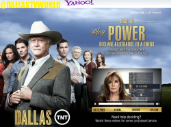 Yahoo Mail is wrapped in TNT's Dallas during the show's third episode broadcast June 20, 2012 to promote #RiseToPower!