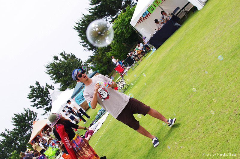 Bubble man at ITADAKI fes 2012