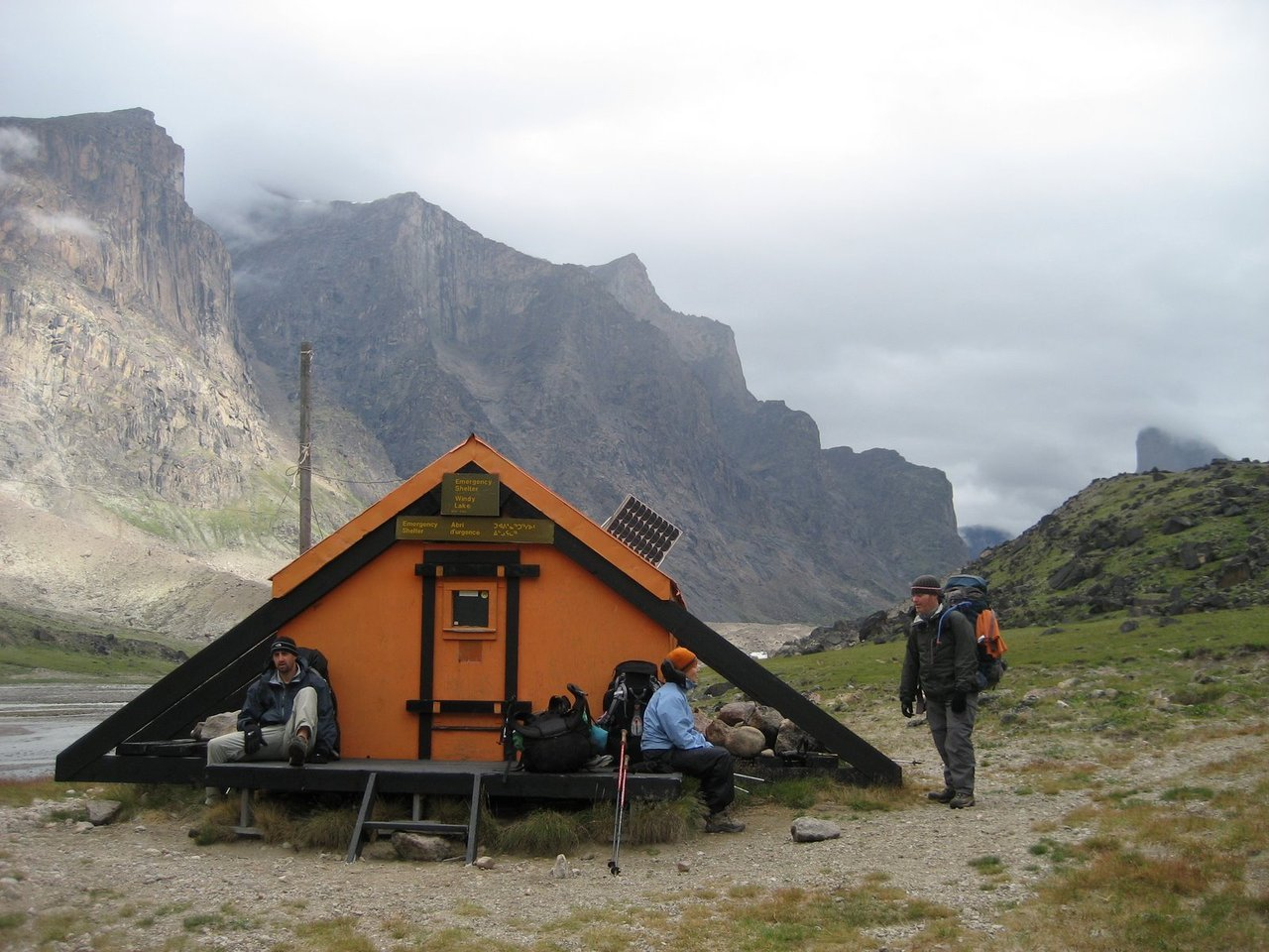 cabinporn:  An emergency shelter in the Akshayuk Pass in Auyuittuq National Park on Baffin Island. Submitted by Ben Odenheimer, photo by Brad Kueneman.