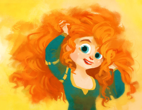 siminiblocker:  Merida.  Happened to go into the Disney store today and see all the Merida dolls… I need a big office for all the toys I want to buy.  Mostly I'm excited to see the movie. Because hair.