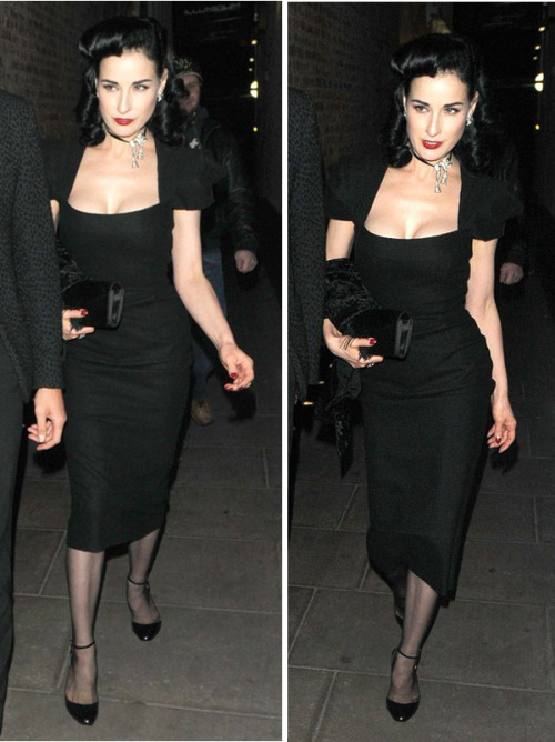 suicideblonde:  Dita Von Teese out in London, June 19th SO BEAUTIFUL