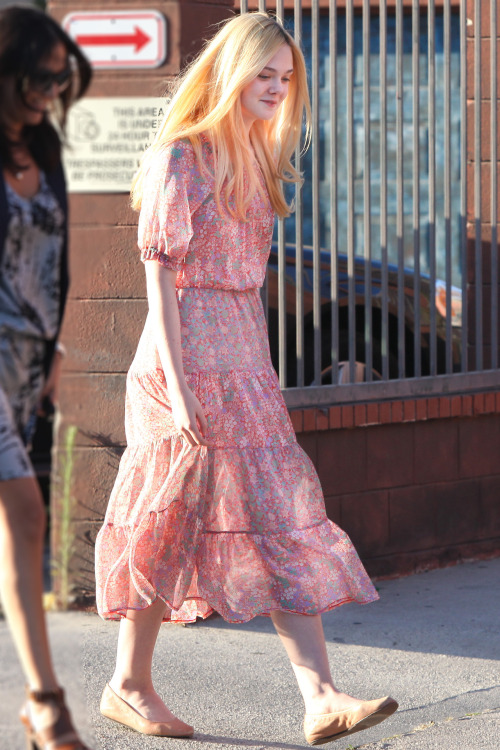 suicideblonde:  Elle Fanning out in LA, June 18th Elle's next role is playing Aurora in Maleficent
