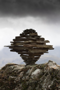 tripfingerless:  Castle Crag Tornado Cairn by escher is still alive on Flickr.
