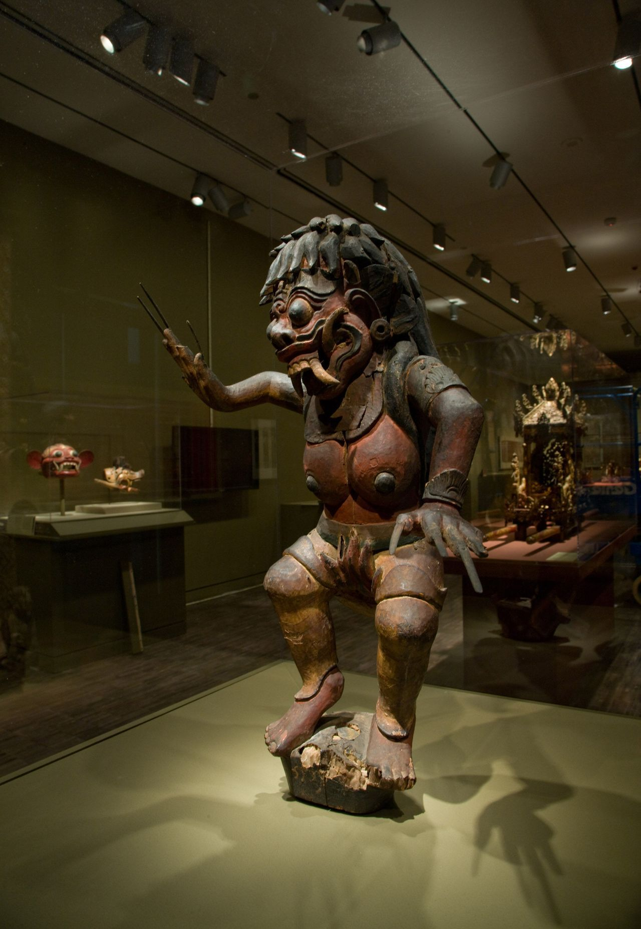 Ancient Bali sculpture at the Asian Art Museum, San Francisco
