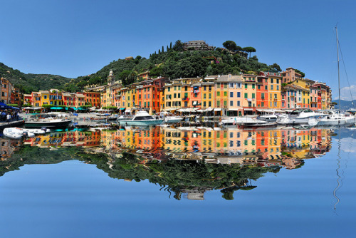 ysvoice:  | ♕ |  Portofino Reflection - Liguria, Italy  | by © John Mueller
