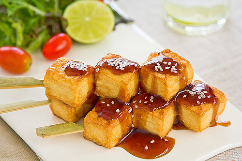 Grilled Tofu with Teriyaki Sauce