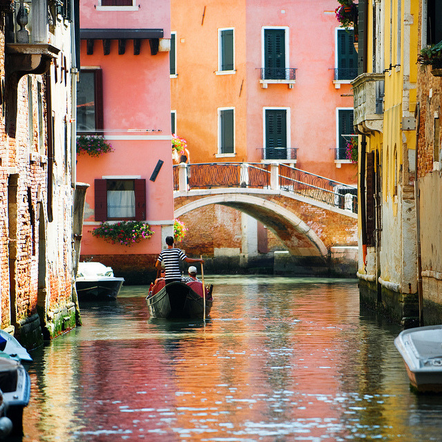 | ♕ |  Towards the bridge - Venice, Italy  | by © John Mueller
