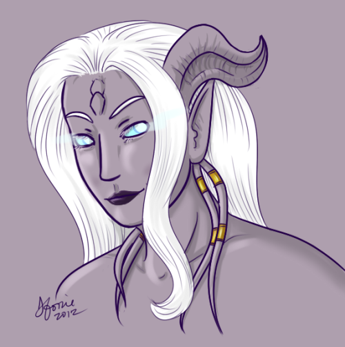 Sevitsuna - Draenei pally (looking less crazy than usual)another one hour quickdraw.