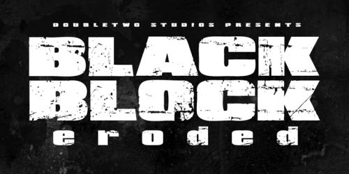 XXII BlackBlock - The Fat Grunge Font
