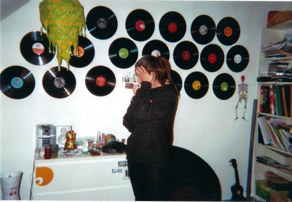 riotgrrrlsarenotdead:  Picture I took of my sister in my room