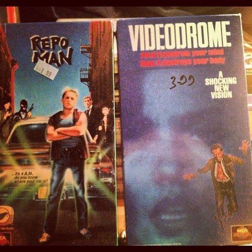 "songz:  #VHS #Forever (Taken with Instagram)  Rad! Just throw in a copy of ""They Live"" and it's a hat trick."