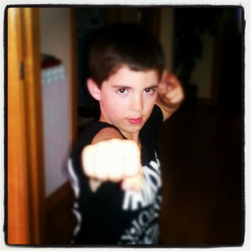 Kárate Kid #spiderboy  (Tomada con Instagram)