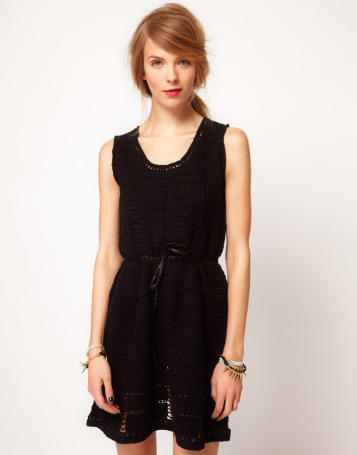 Edun Sleeveless Dress In CrochetMore photos & another fashion brands: bit.ly/J4os7K