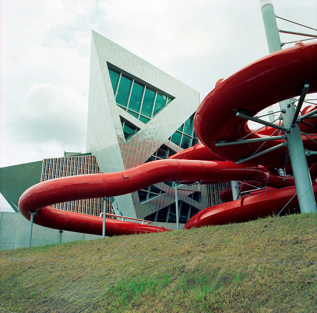 hiromitsu:  Red slide by schoeband on Flickr.