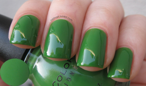 sinful colors - exotic green green creme! i always struggle with green but this is a really good one. it's kind of squishy!