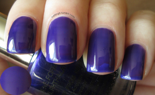 new york summer - hot purple this is a crap swatch of one of my very, very favorite polishes. IRL it is much deeper, a bit darker, and there is less visible nail line. none of my cameras like purple. it's very sad as purple is my favorite color!  i put this one on after my LOS ANGELES KINGS won the STANLEY CUP! woooooooooooooooooooooooooooooooooooooooooooweeeee!