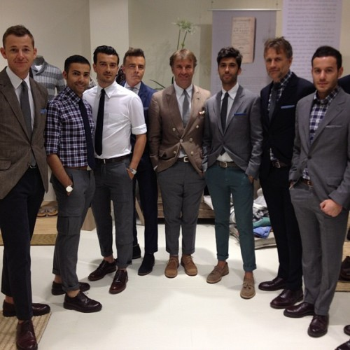 gqfashion:  Brunello and his brood of best dressed guys at Pitti! JM (Taken with Instagram)