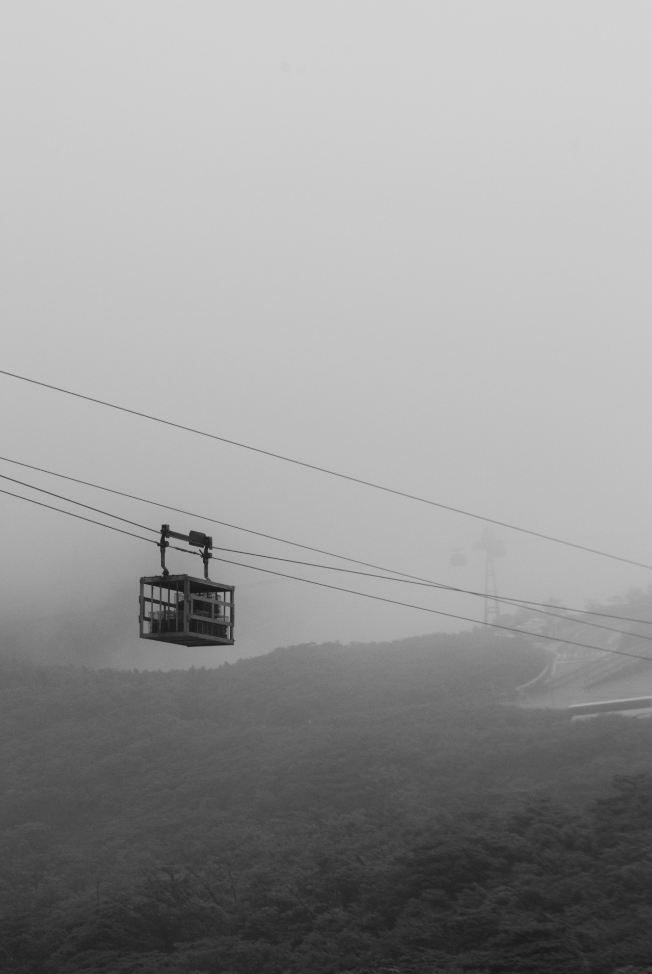 taken in Hakone on Saturday. it was so foggy and hazy you could barely see the mountains in the distance. i really like the grey, lonely effect though
