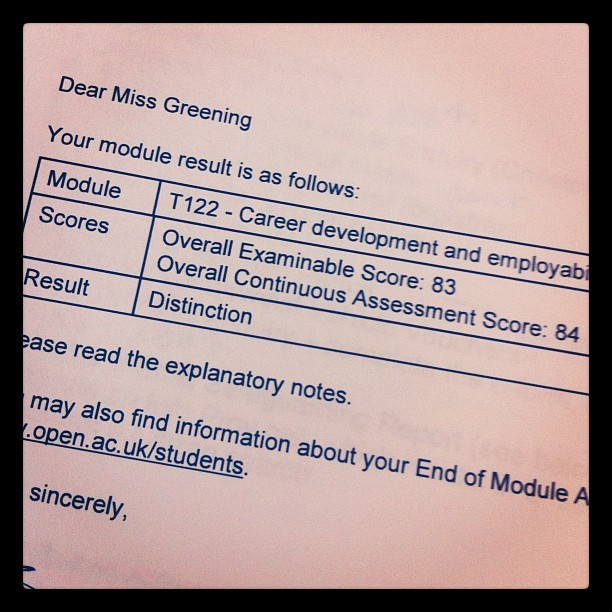 Aww yeah. #ou #openuniversity  (Taken with Instagram)