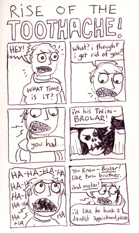 my teeth are the worst..(previous comics about toothache here)