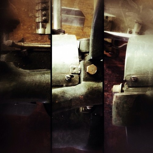 lost connection. #tryptych #collage #squarephoto  #machinery #machine #industrial (Taken with Instagram)