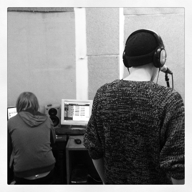 Bashing out vocals (Taken with Instagram)