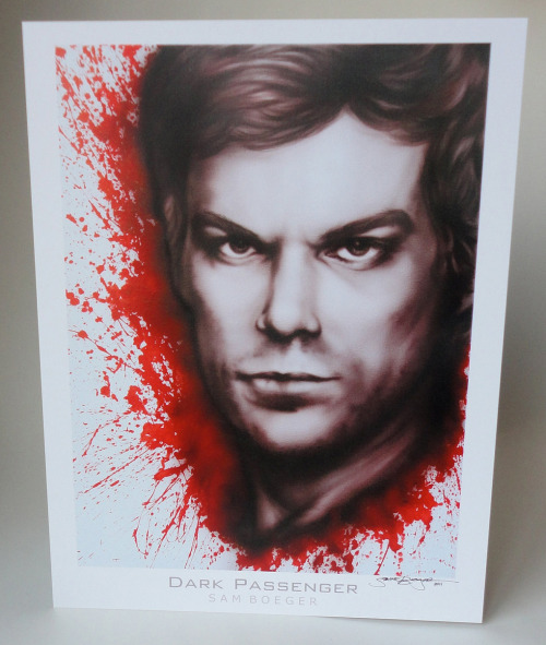 fuckyeahdexterart:  Dexter Art print by Bogies. Watch this get painted.