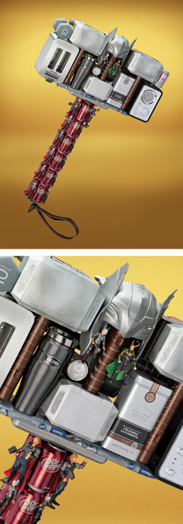 "Avengers Assemble! by Guy Seese & Chris Mitton A campaign entitled ""The Avengers Assemble at Target"", created by Creative Directors Guy Seese and Chris Mitton.The campaign features some of the superheroes' accessories recreated using everyday objects and toys available at the store."