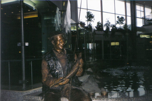 Anyone remember the Jack Charlton statue next to the coy pond in the old terminal in Cork airport?