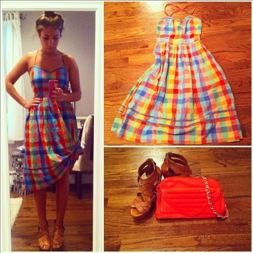 WIWT: Plaid Dress from Urban Outfitters. #fashion #style #trends #summer (Taken with Instagram)