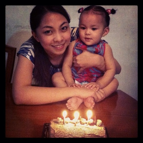 Happy 10th month Megan love love!!👼🎈🎂 (Taken with Instagram)