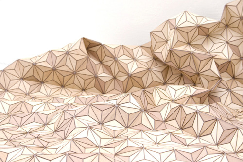 Elisa Storzyk's 'Wooden Carpet', beautiful cross between furniture and textiles. (via Planetary Folklore: Wooden Carpet)