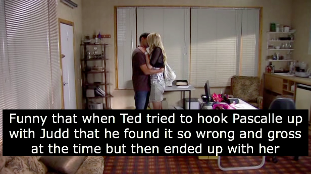 Yes, but when Ted set it up, Wayne was still into Cheryl, however by the time they got together, Wayne and Cheryl's relationship was on the rocks, which is common after the death of a child.  Thank you crimzon1991 for the confession