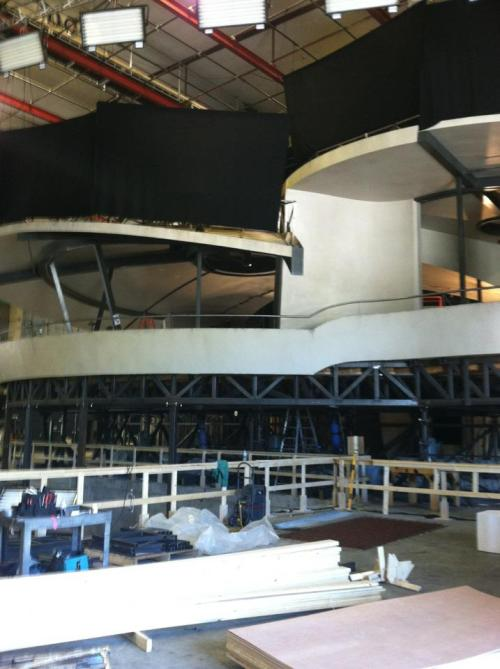 The Stark mansion being constructed on the set of Iron Man 3 [via]