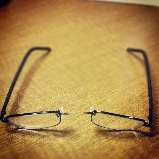 Cleaning my glasses? I'm doing it wrong… #FML (Taken with Instagram)