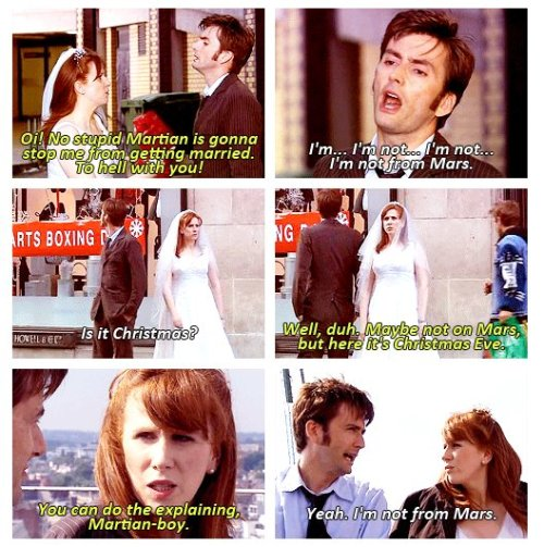 cheshireshecat:  Martian boy and Donna Noble <3