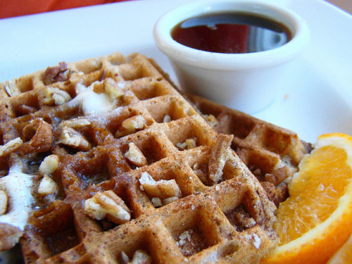 afickleheartandabitterness:  Pumpkin Pie Waffle by Vegan Feast Catering on Flickr.