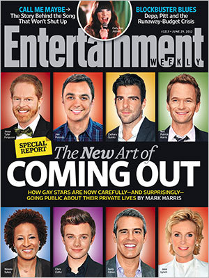 Thank god for EW - they can always figure out a way to reduce the LGBT community to white gay men with Jane Lynch and Wanda Sykes thrown in for fun.  Glad to see we've come so far, Jess Cagle.