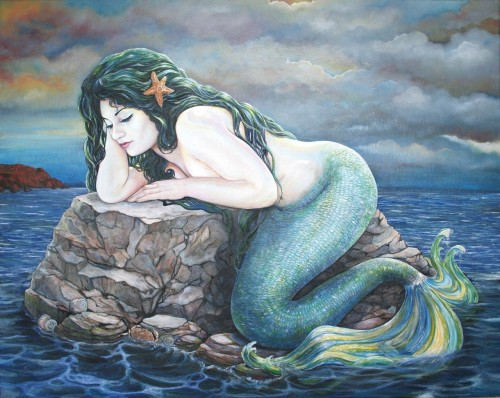 weareallprostitutesandjunkies:  vintage mermaid