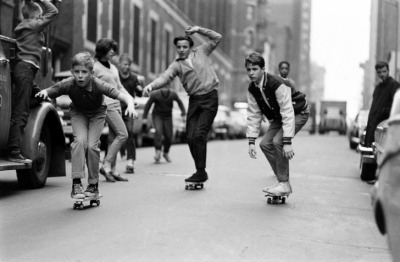 Skateboarding in New York City, 1965 via LIFE