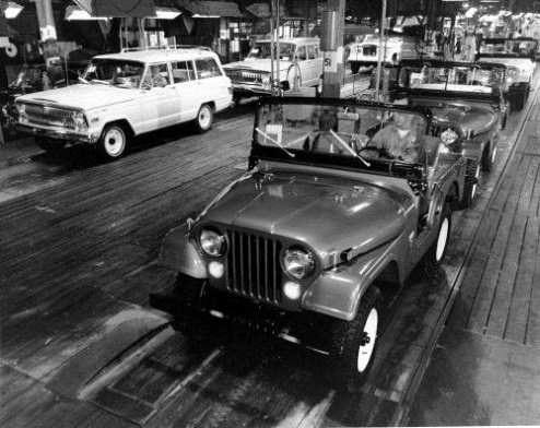 thinknorth:  (via Assembly Line at Jeep® Parkway, Toledo, Ohio (1964) | Jeep)