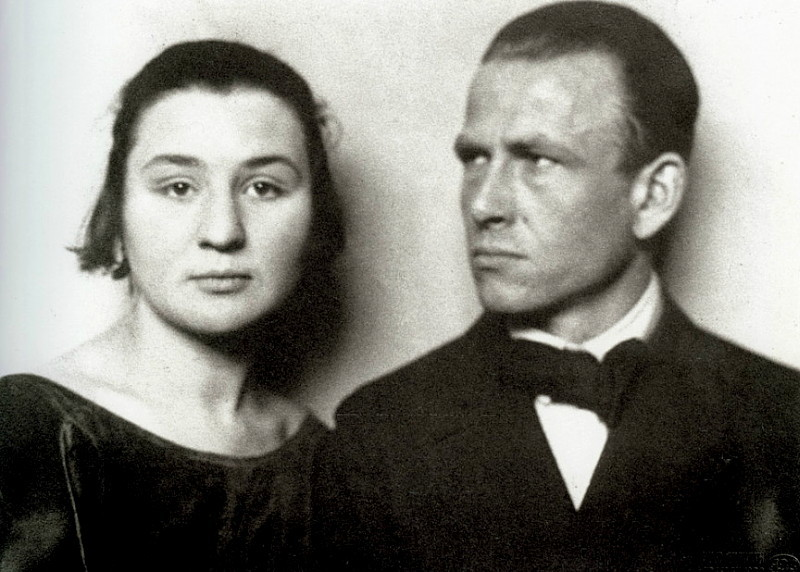 Martha Koch (Otto's wife) and Otto Dix by Hugo Erfurth