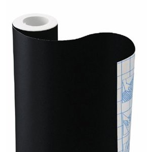 Chalkboard contact paper. No need to paint things now. Just slap some of this on there and it's a chalkboard.